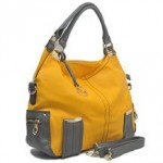 Yellow Hobo Handbag